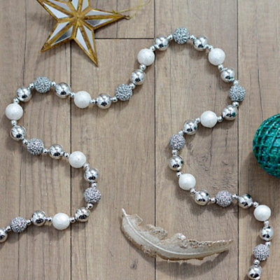 White Beaded Garland