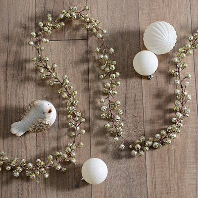 Gold Metallic Berry Garland