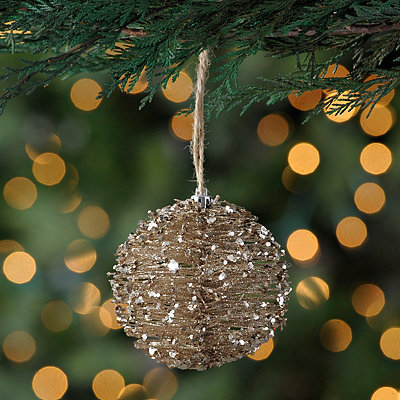 Champagne Brush Ball Ornament