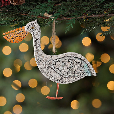 Blue Pelican Ornament