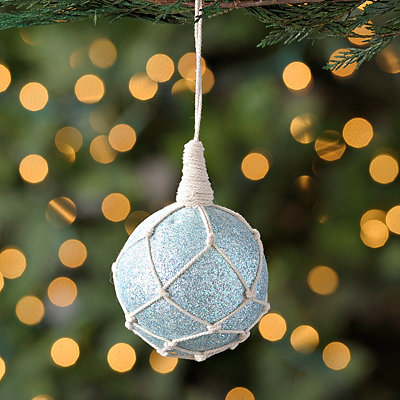 Glitter Net Ball Ornament