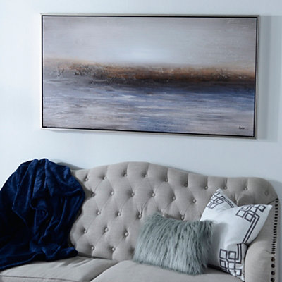 Abstract Landscape Horizon Framed Canvas Art Print