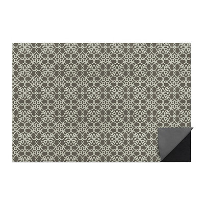 Gray Floral Tiles 2-pc. Washable Scatter Rug