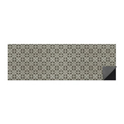Gray Floral Tiles 2-pc. Washable Runner