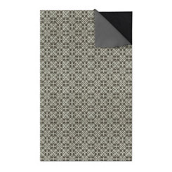 Gray Floral Tiles 2-pc. Washable Area Rug, 5x7