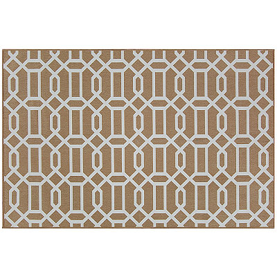 Tan Trellis 2-pc. Washable Scatter Rug