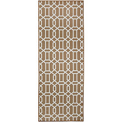 Tan Trellis 2-pc. Washable Runner