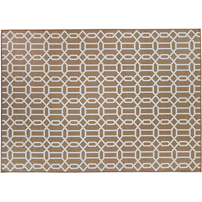 Tan Trellis 2-pc. Washable Area Rug, 5x7