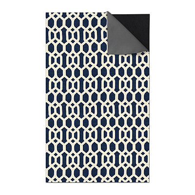 Blue Trellis 2-pc. Washable Area Rug, 5x7