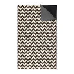 Black Chevron 2-pc. Washable Area Rug, 5x7