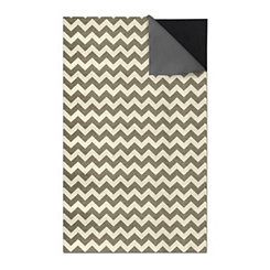 Gray Chevron 2-pc. Washable Area Rug, 5x7