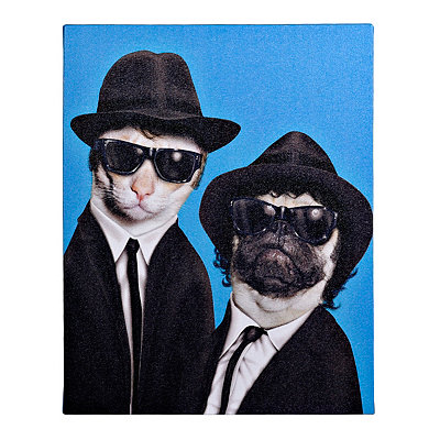Pets Rock Brothers Canvas Gallery Wrap