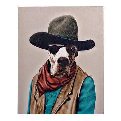 Pets Rock Cowboy Canvas Gallery Wrap