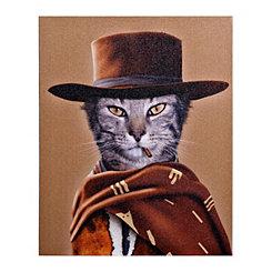 Pets Rock Western Canvas Gallery Wrap