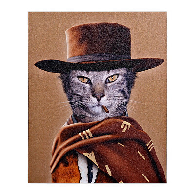 Pets Rock Western Canvas Gallery Wrap
