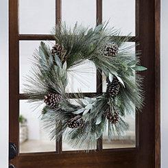 Laurel Leaf and Pine Wreath