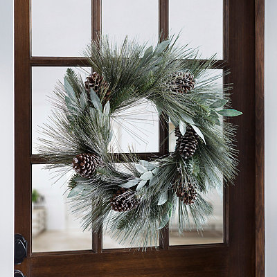 Laurel Leaf and Pine Wreath