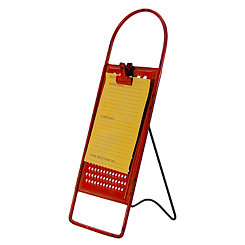 Red Metal Grater Recipe Holder