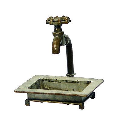 Rustic Antiqued Faucet Soap Dish