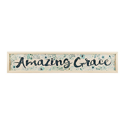 Painted Amazing Grace Framed Art Print