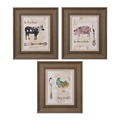 Barnyard Cutlery Framed Art Prints