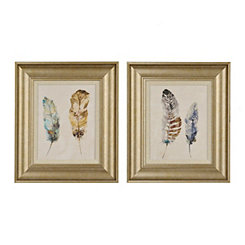 Watercolor Feathers Framed Art Prints