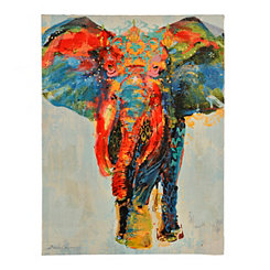 Patterned Colorful Elephant Canvas Art Print