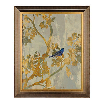 Golden Branches Framed Art Print