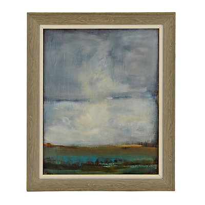 Burnished Abstract Landscape Framed Art Print