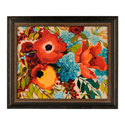 Floral Color Party Framed Art Print