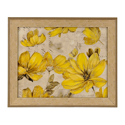Sunshine Flowers Framed Art Print