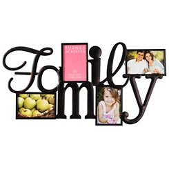 Cutout Family 4-Opening Collage Frame