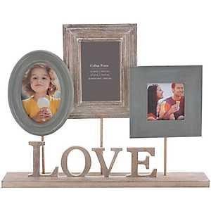 Love Heartfelt 3-Opening Pedestal Collage Frame
