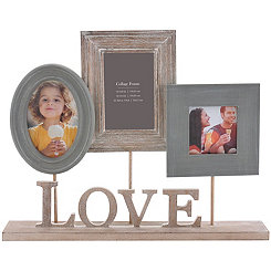 Love Heartfelt 3-Opening Pedestal Collage Frame
