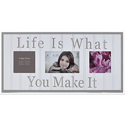 Life is What You Make It Collage Frame