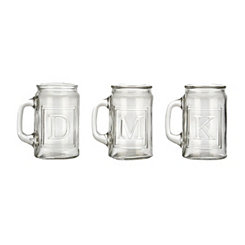 Monogram Glass Mug