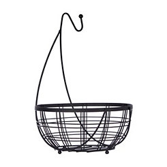 Black Wire Banana Hanger and Fruit Basket