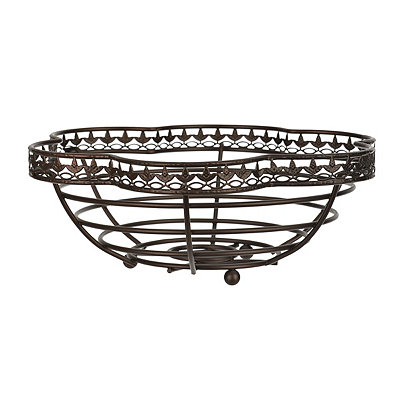 Bronze Leaf Metal Basket