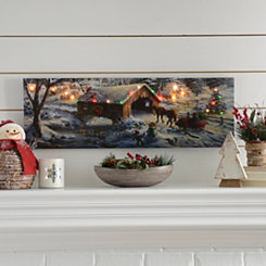 Sleigh Ride LED Canvas Art Print