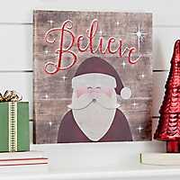 Believe Santa LED Canvas Art Print