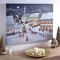 Sleigh Bells Ring LED Canvas Art Print