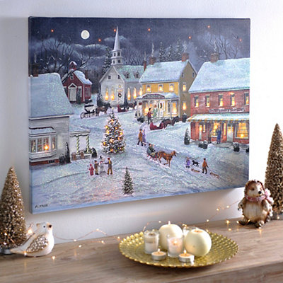 Sleigh Bells Ring LED Canvas Art Print
