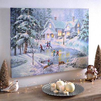 A Fine Winter's Eve LED Canvas Art Print