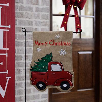 Merry Christmas Truck Flag Set