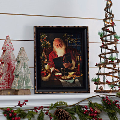 A Child is Born Santa Framed Wall Art Print