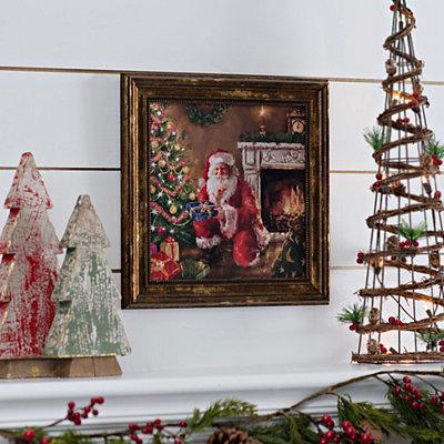 Sneaking Santa Delivery Framed Art Print