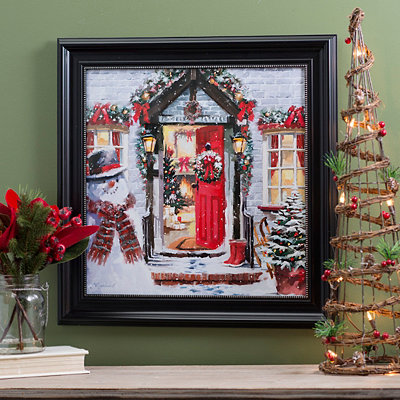Open Door Christmas Framed Art Print