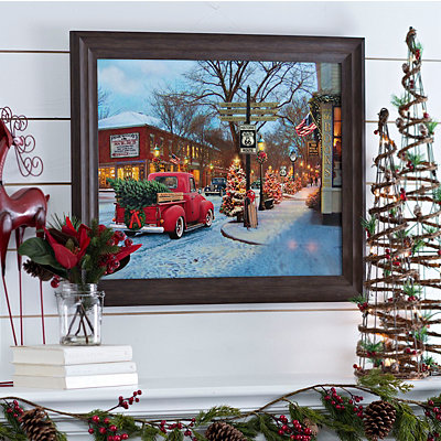 Route 66 Christmas Framed Art Print