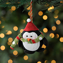 Black Knit Penguin Ornament