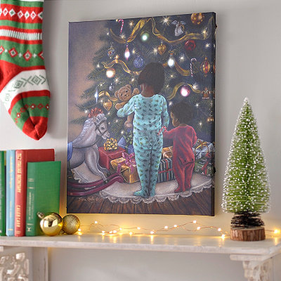 LED Christmas Morning Canvas Art Print